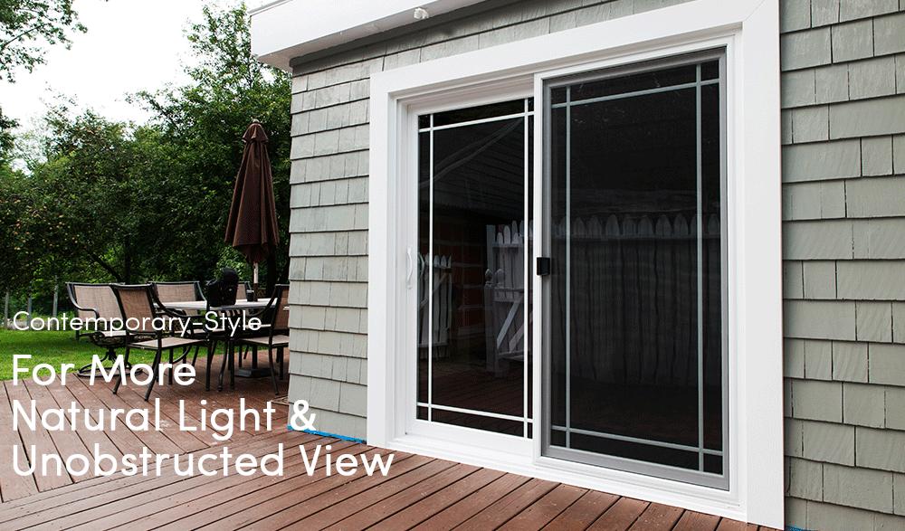 Sliding french doors ct save floor space seven sun windows for Best energy efficient patio doors