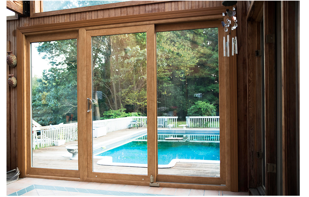 Sliding patio door company ct for Long sliding glass doors