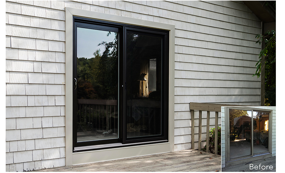 Sliding patio door company ct for Sliding door front door