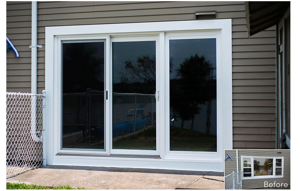 3 panel sliding glass patio doors the for Patio entry doors