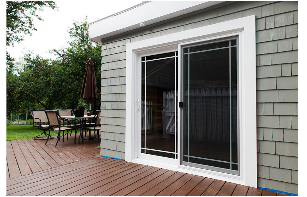ALSIDE Promenade: Custom Sized, White Exterior Color, Single Prairie Grids  In Between Panes Of Glass, 5u201d PVC Aluminum Exterior Trim